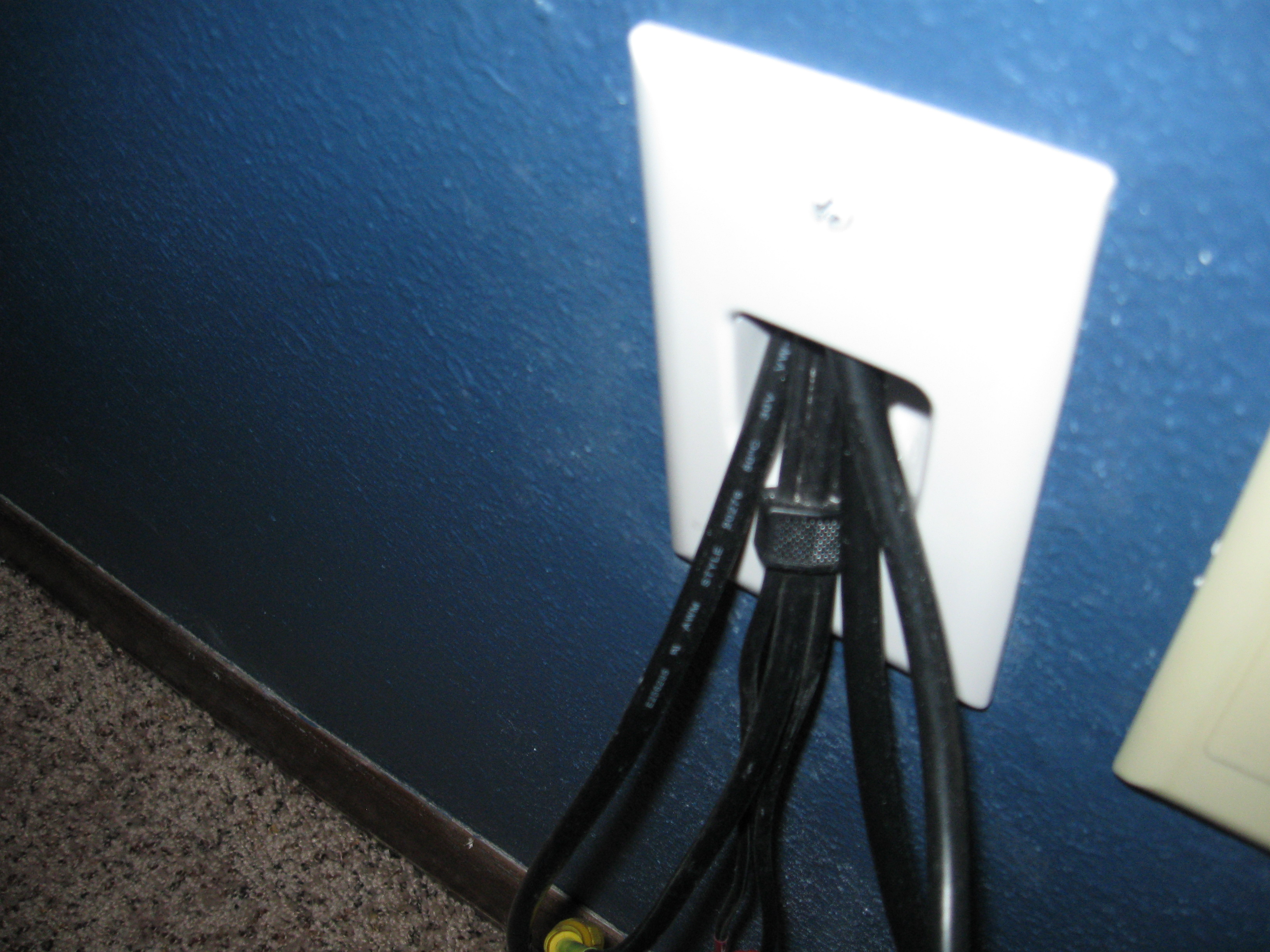 How To Run Hdmi Cable Through Existing Construction Drywall Tv Wiring Wall Plates Pass Face Plate