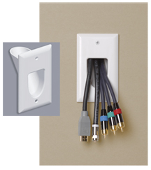 Pass Through Wall Plate