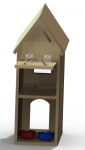 Cat House Rendering (Back View) - SolidWorks