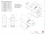 Cat House Build Plans and Instructions Drawing, DIY Pet Shelter