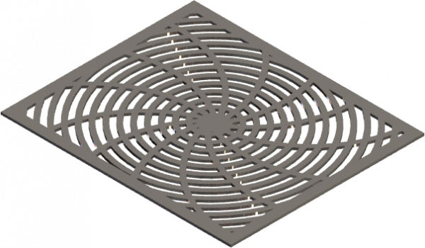 HVAC Custom Decorative Vent Cover - Warp 1 (13 Rays)