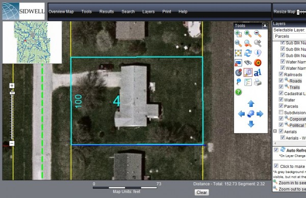 Aerial Satellite Photo - Measure Lot Sqare Footage