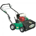 Overseeder - lawn seeding machine with hopper and verti-cutter blades