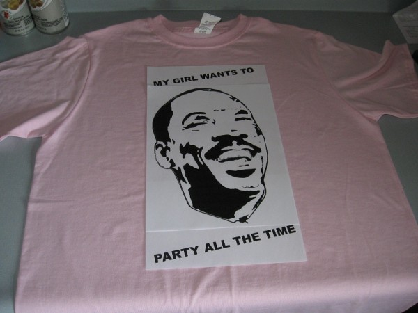 Eddie Murphy - Party All The Time - T-Shirt Layout 2
