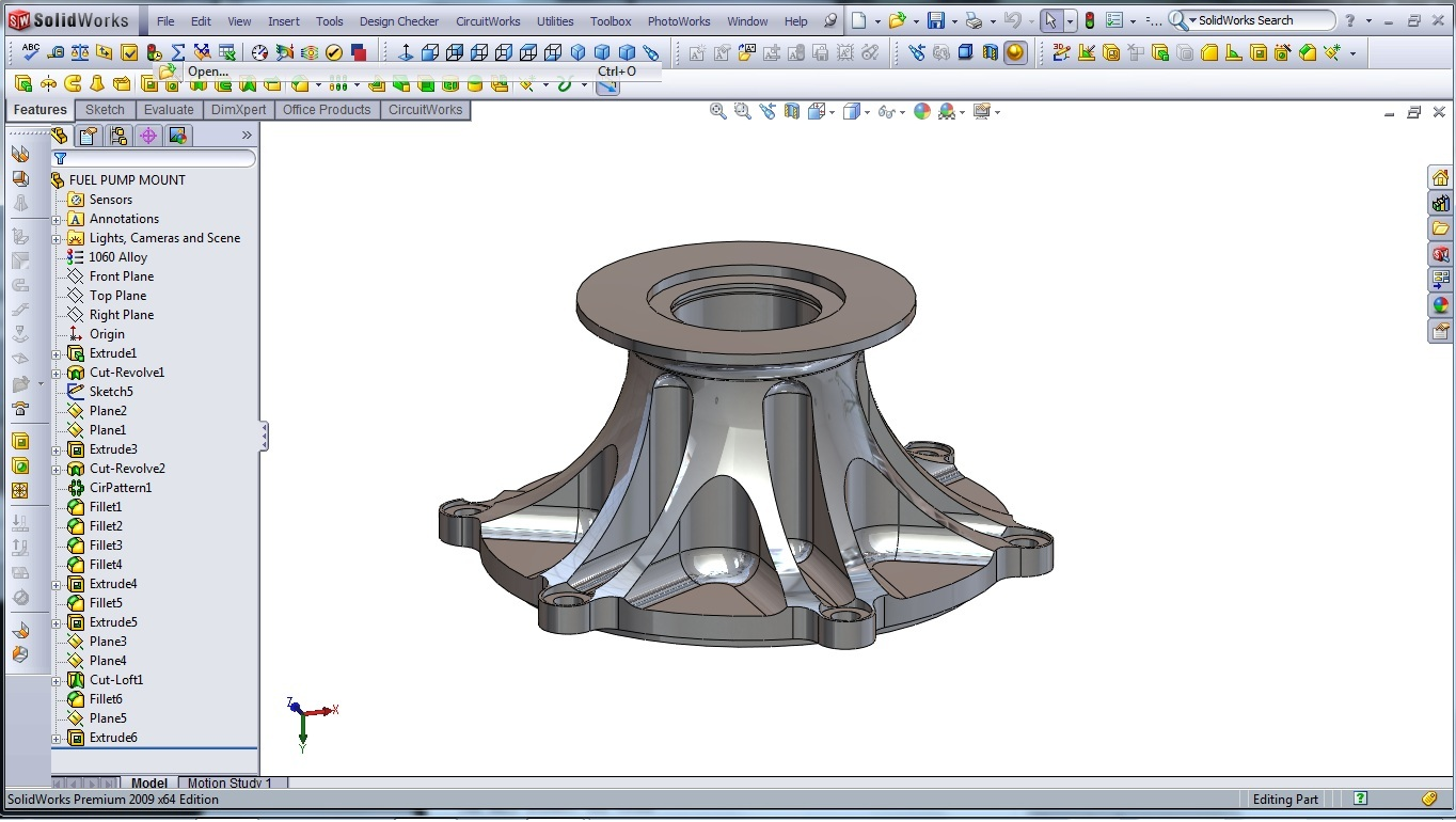 3d cad modeling a high performance engine part how to Cad models