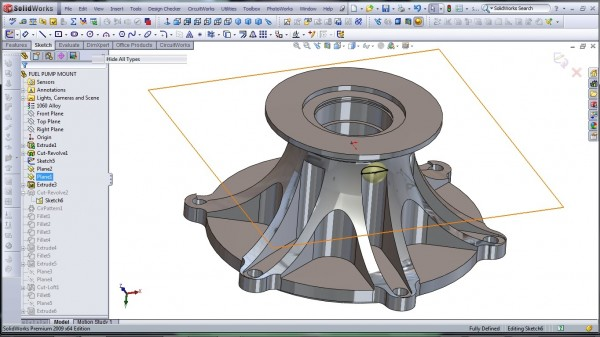 3D CAD Modeling - SolidWorks - High Performance Engine Part - Fuel Pump Mount - 10