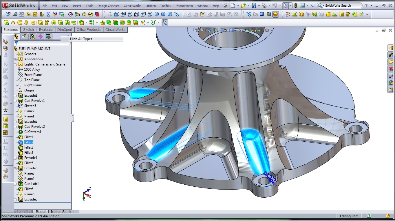 3d Cad Modeling A High Performance Engine Part How To Page 3 Diagram Solidworks Fuel Pump Mount 14