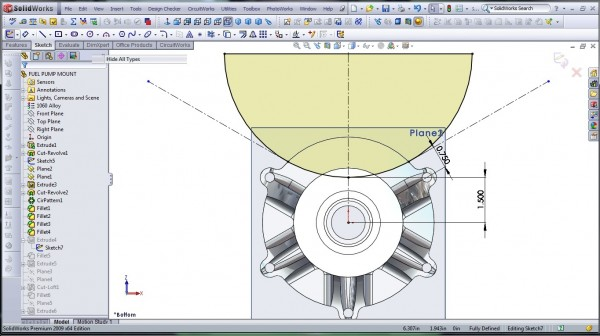 3D CAD Modeling - SolidWorks - High Performance Engine Part - Fuel Pump Mount - 17