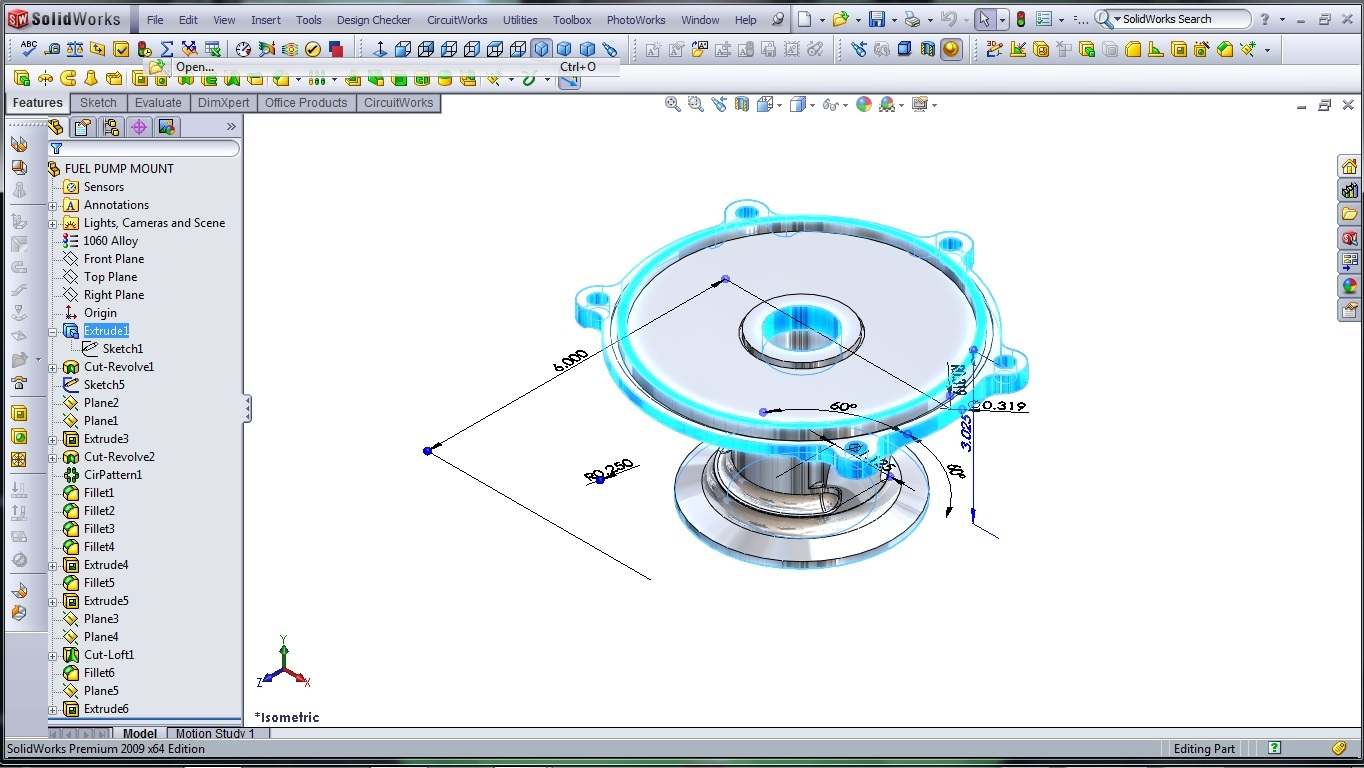 3d Cad Modeling A High Performance Engine Part How To Designer Solidworks Wire Diagram Fuel Pump Mount 2
