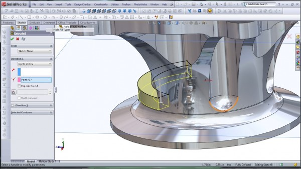 3D CAD Modeling - SolidWorks - High Performance Engine Part - Fuel Pump Mount - 21