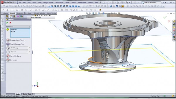 3D CAD Modeling - SolidWorks - High Performance Engine Part - Fuel Pump Mount - 22