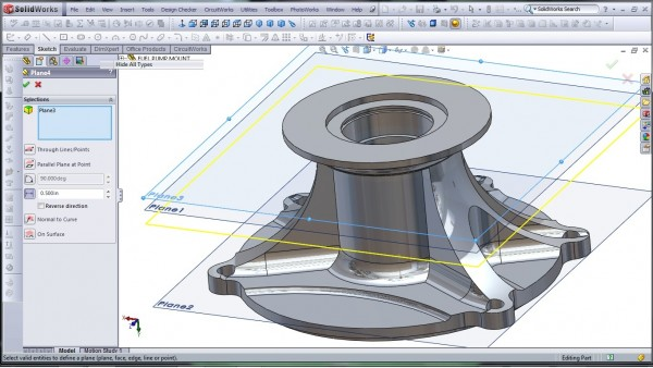 3D CAD Modeling - SolidWorks - High Performance Engine Part - Fuel Pump Mount - 23