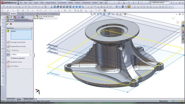 3D CAD Modeling - SolidWorks - High Performance Engine Part - Fuel Pump Mount - 27