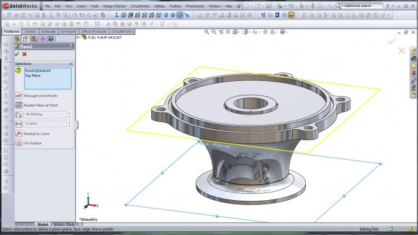 3D CAD Modeling - SolidWorks - High Performance Engine Part - Fuel Pump Mount - 6