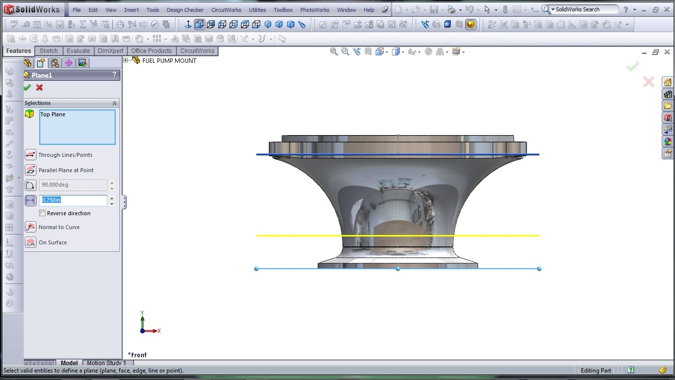 3d Cad Modeling A High Performance Engine Part How To Page 2 Diagram Solidworks Fuel Pump Mount 7