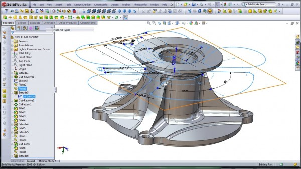 3D CAD Modeling - SolidWorks - High Performance Engine Part - Fuel Pump Mount - 8.2