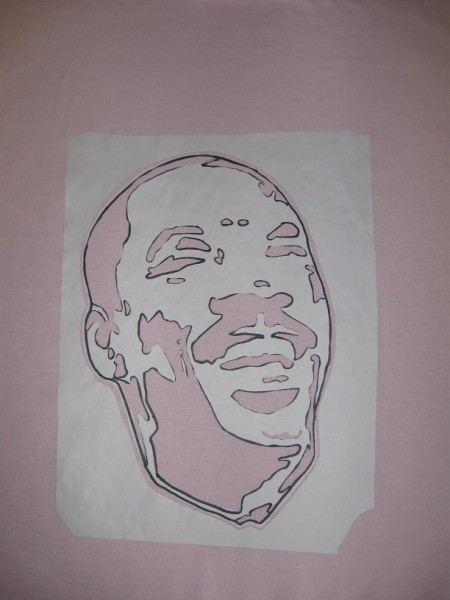 Freezer Paper - Iron on the rest of the stencil - Eddie Murphy T-shirt