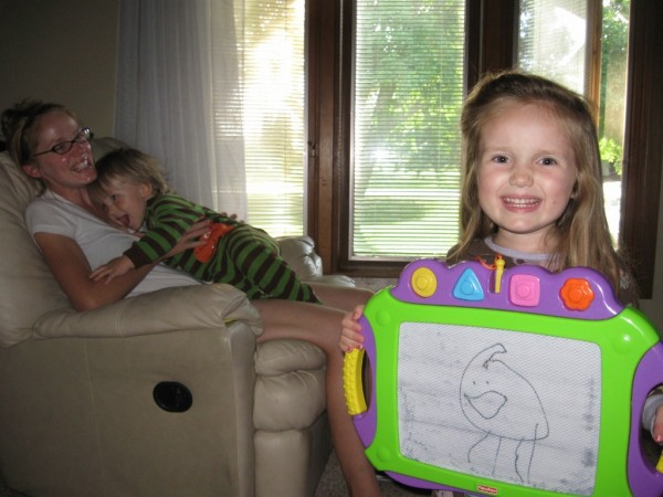 The Fam and The Bag, magnadoodle, kids, drawing, family,