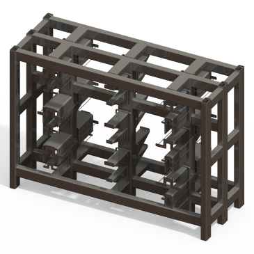 U-Bolt Rack Design: Tube Steel & Adjustable Modular Racks