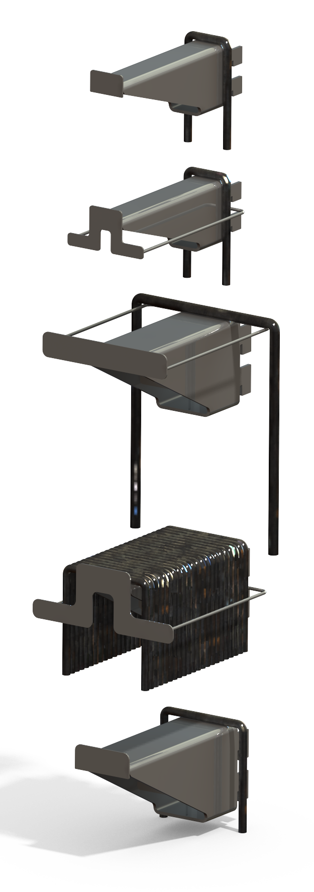 U-Bolt Rack Module Set - Designed in SolidWorks - Kris Bunda
