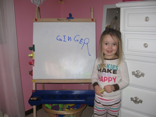 Ginger Writes Her Name - In Russian!