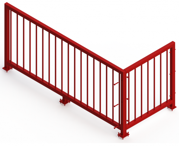 Steel Stair Guard Railing