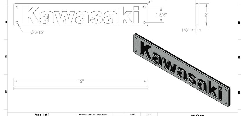 KAWASAKI BUMPER DRAWING