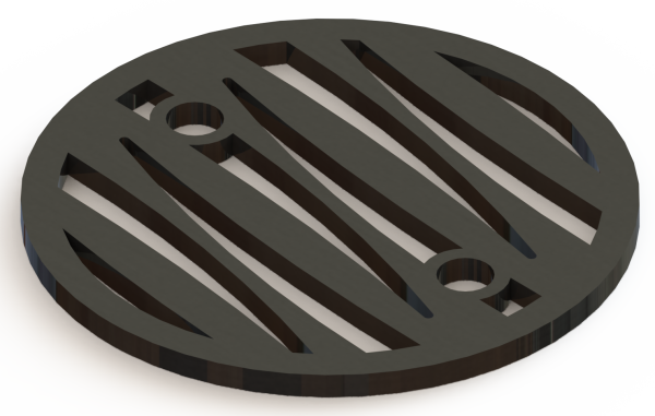 4.25in Custom Decorative Drain Cover Design - 2a