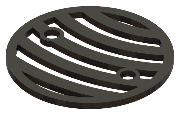 4.25in Custom Decorative Drain Cover Design - 4a