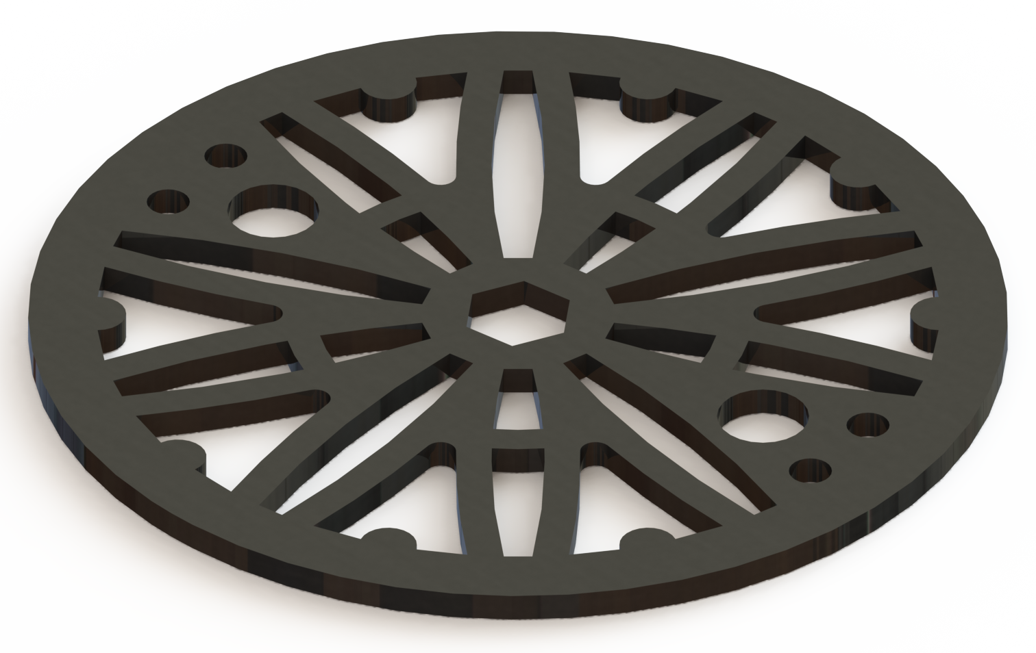 4.25in Custom Decorative Drain Cover Design - 6a