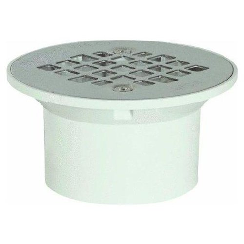 PVC drain fitting with steel cover