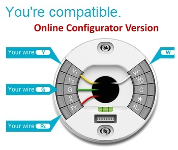 Nest Your Custom Wiring Diagram Guide online configurator wire color nest thermostat not connecting to wifi? try router's security nest thermostat wiring heat pump at creativeand.co