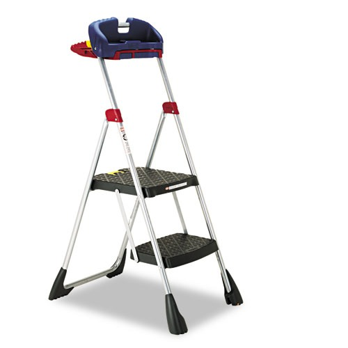 Max Work Platform Project Ladder by Cosco - Because of the shelf and large platforms, I recommend one of these while doing so much overhead work as foaming your band sills