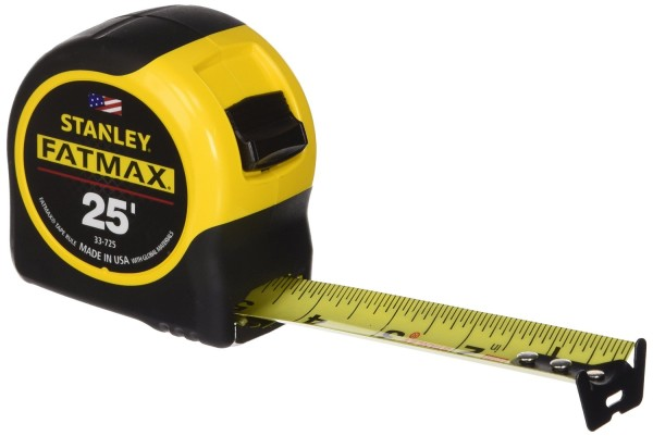 Tape measure - Draw marks on either sides of 4x8 boards, then connect them with chalk line or straight edge and pen. You also use this a lot when dry fitting bays with protrusions or sister joists that need adjustment.