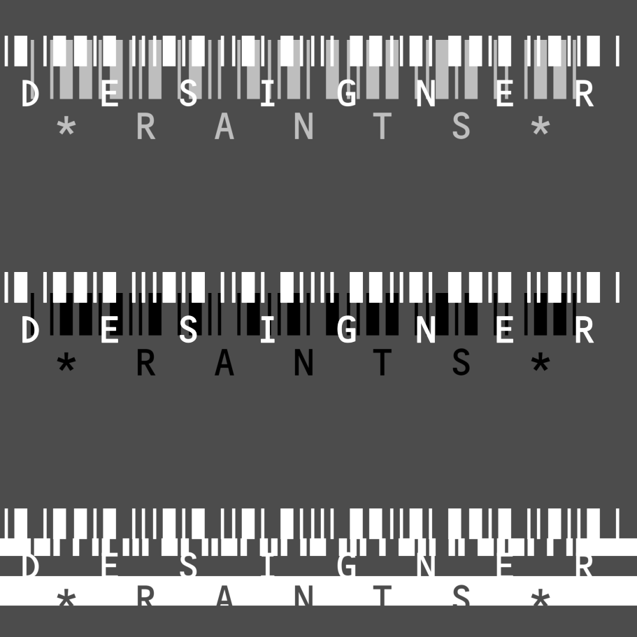 Designer Rants bar codes 911px