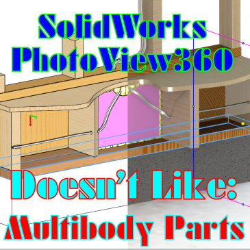 SolidWorks PhotoView360: Don't Try This With MultiBody Parts / Bonjour? Oui Oui!