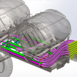 Dry Fertilizer Cart Manifolds & Solidworks Routings for Flexible Tubing