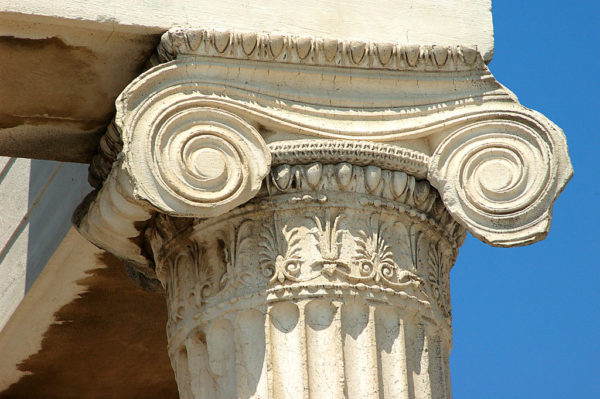 Ionic Pillar - fluted column with acanthus leaves
