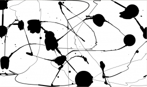 Jackson Pollock style picture made by Kris Bunda