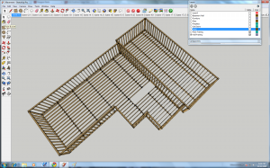 Framing for a Google SketchUp model, using Dynamic Components
