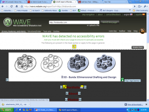 WAVE accessibility screenshot of krisbunda.com