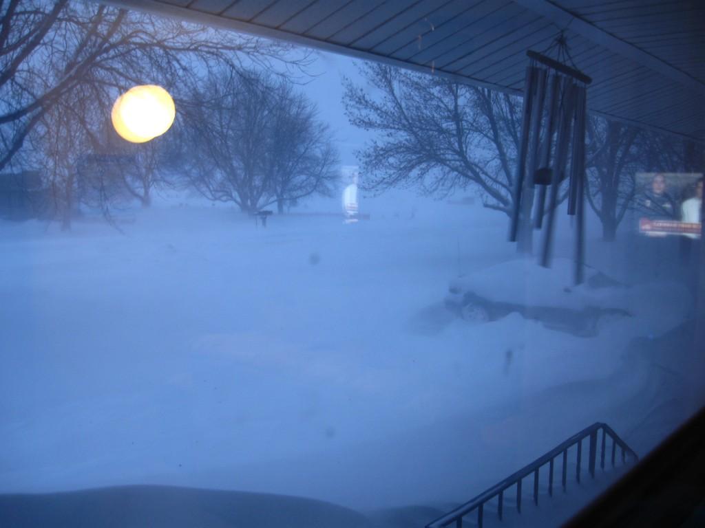 Midwest Winter, Snow drift, buried car