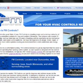 FM Controls, Inc. - HVAC Controls Website