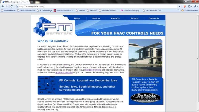 Website Revamp – FM Controls, Inc.