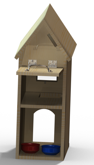Cat House Rendering (Back View)