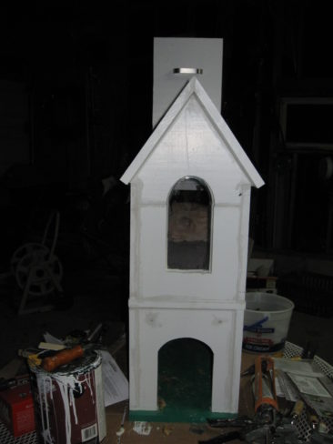 2 Story Cat House with Window - Back Door Open