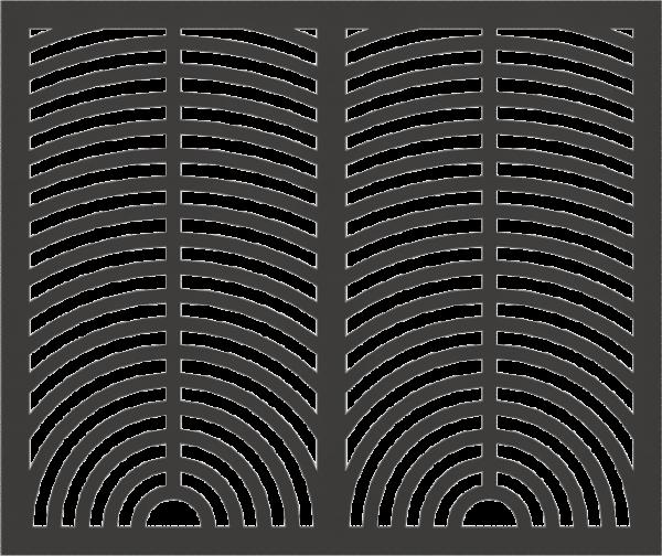 HVAC Custom Decorative Vent Cover - Sunrise