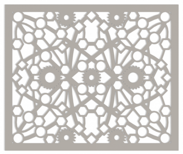 Custom Decorative Vent Cover - Atomic