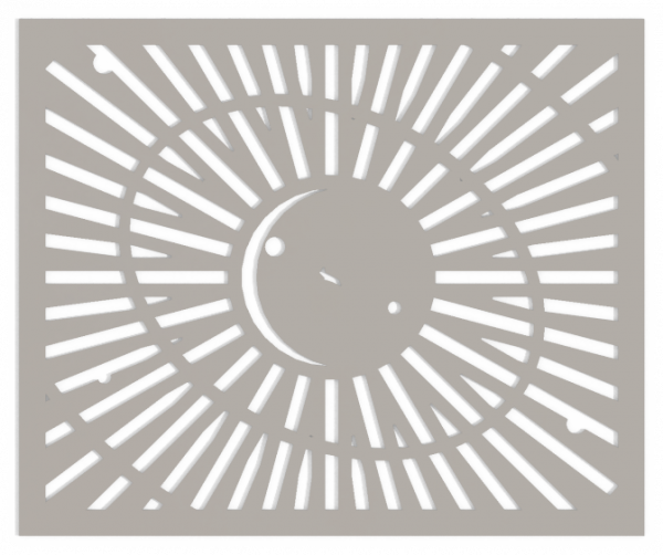 HVAC Custom Decorative Vent Cover - Saturn 2 (with Moons & Space Ship) 2