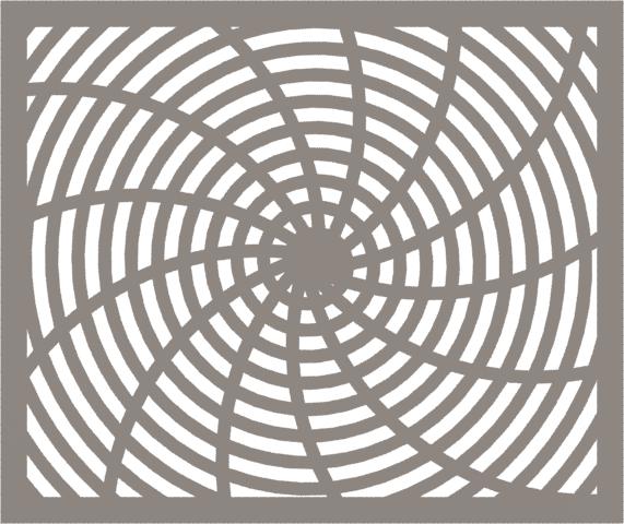 HVAC Custom Decorative Vent Cover - Warp 1 (13 Rays) 2